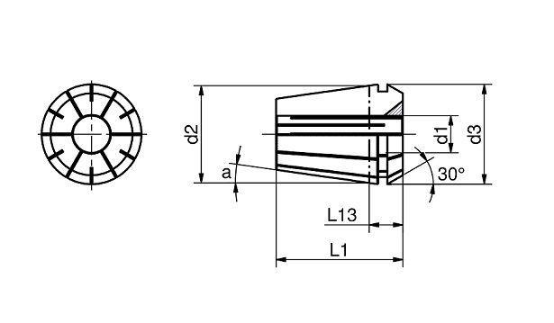 PINZE A TENUTA con FORI per refrigerante<br>ISO 15488 (ex Din 6499)